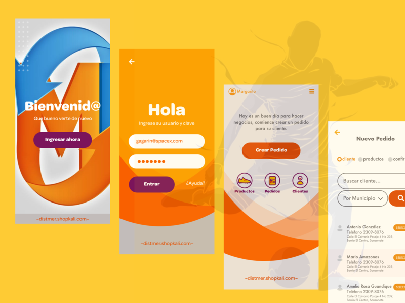 web app para pedidos vendedores shoes responsive website web design pedidos orders web app responsive