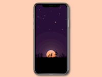 Moonlight Forest iPhone X Wallpaper