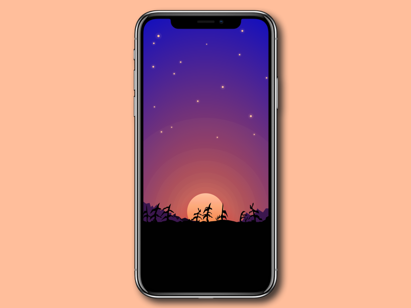 Moonlight Forest Iphone X Wallpaper V2 By Tobi Schnackenberg