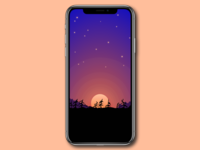 Moonlight Forest iPhone X Wallpaper v2