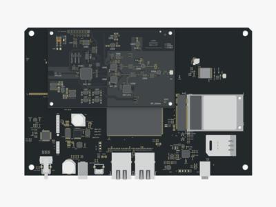 pcb motherboard illustration