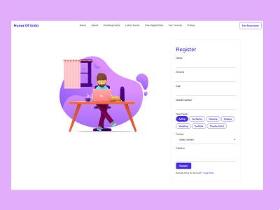 Register ux app amptus ui design strap