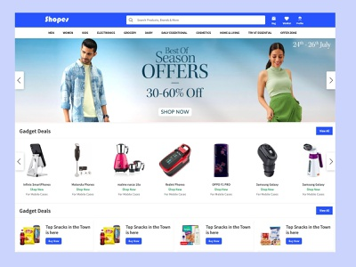 Shopes.in New Design Concept ux strap design ui home screen ecommerce