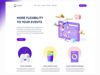 Virtual Events ux vr ai ui design design ui home screen