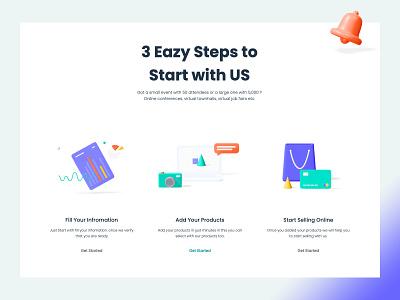 Trime Steps branding illustration web design ui ux design strap
