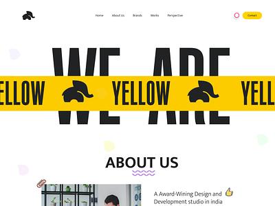Yellow Elephant digital agency illustration amptus branding ux home screen ui design strap web design website design