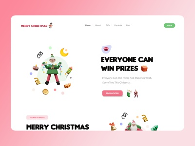 Merry Christmas 2 christmas 3d illustration amptus ux branding home screen strap design