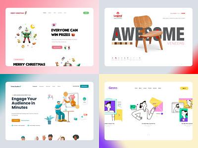 Top 4  Homepage Design 2020 app app design digital agency ecommerce html5 amptus branding home screen strap design homepage design homepage