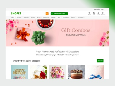 gift shop concept ecommerce digital agency strap amptus ux branding ui home screen sharma sumit design