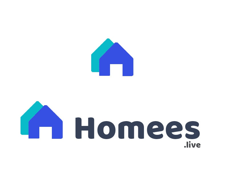 Homees property logo home logo home homees