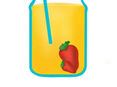 Lemonade with strawberries