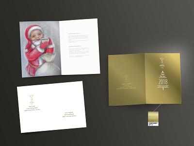 Christmas and NY Postcards for Wital Tea rich luxury luxurious новогодний корпоративные открытки corporative identity business design illustartion wital tea post cards new year christmas card christmas