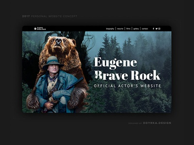 Actor's personal website