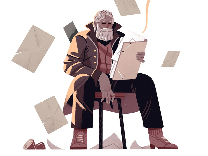 Ethan Seward gamebook editorial character design gameart illustration character