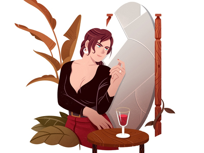 Emma P. vampire gamebook gameart editorial character design design illustration character