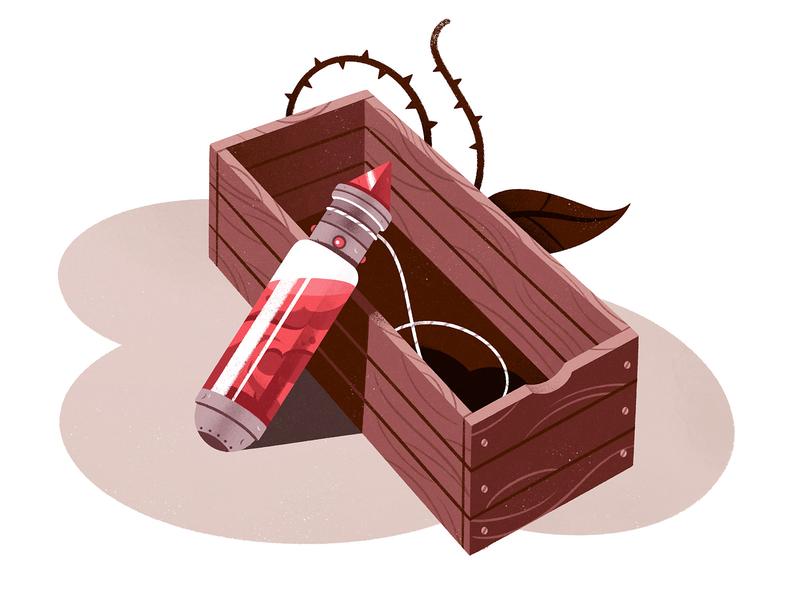 Blood Vial 2 spot illustration editorial illustration blood design gameart game illustration