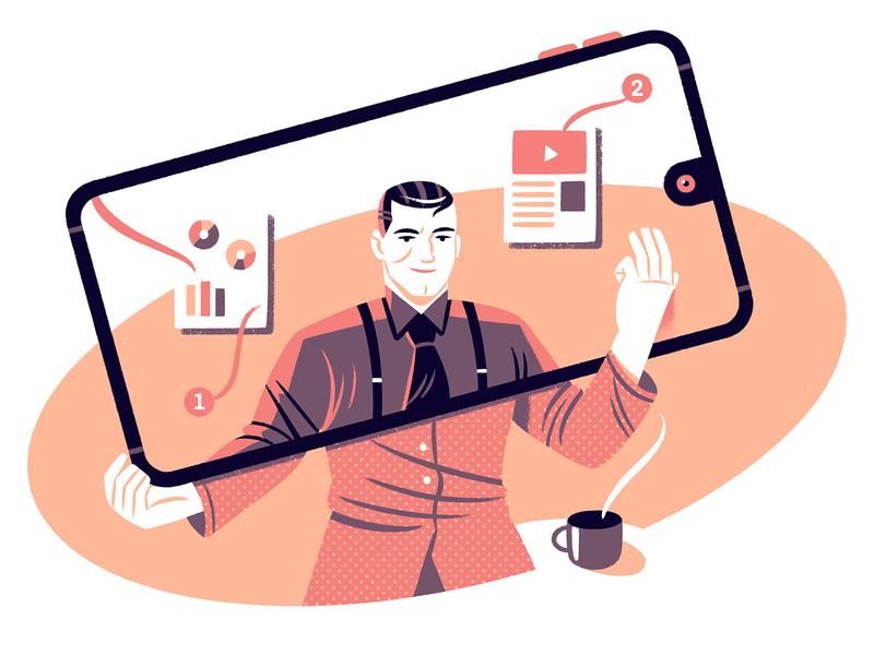 Online Teaching editorial online teaching editorial illustration illustration character