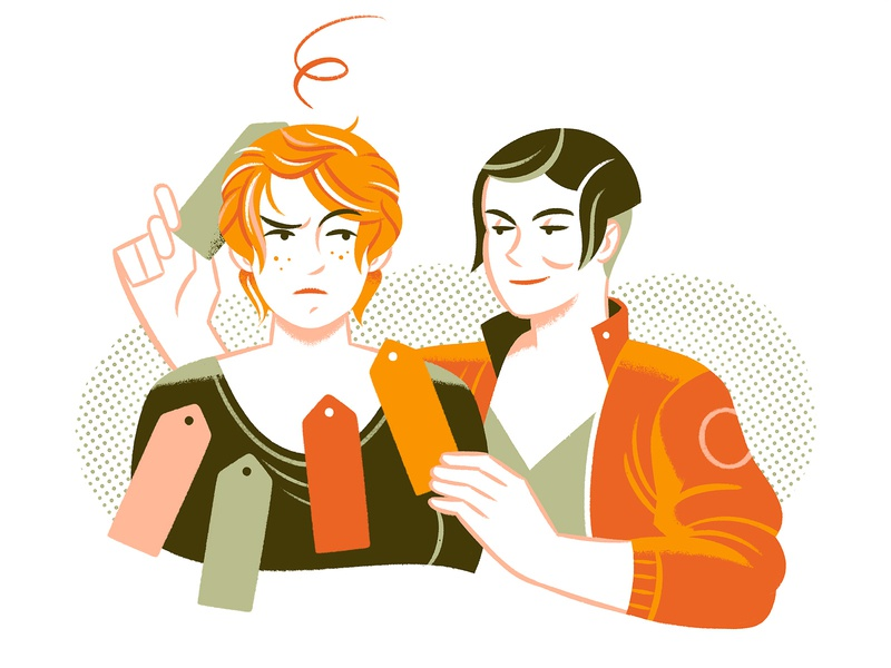 People tagging you teaching self knowledge editorial editorial illustration illustration character