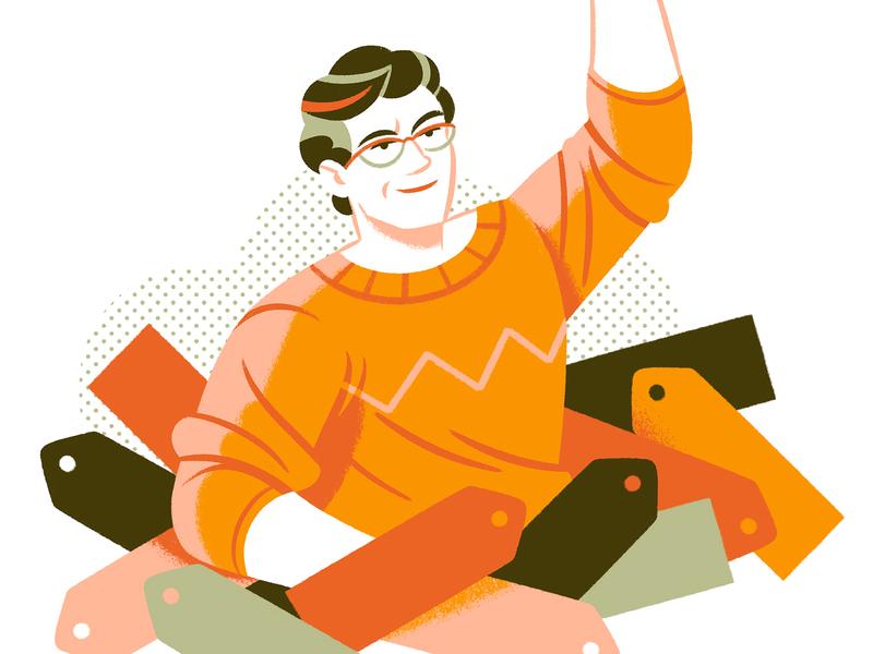 Tags! self knowledge teaching editorial illustration editorial illustration character