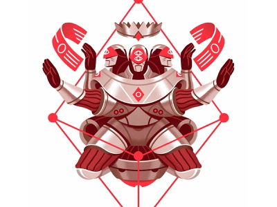 Playing Arts 2020 (The Future) diamonds king artificial intelligence playing card playing arts card illustration character