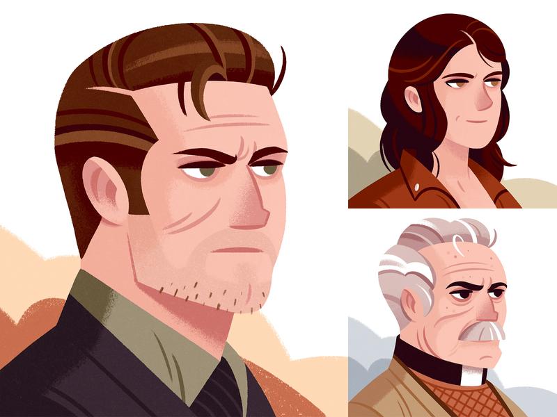 Dracula's Trail of Blood Avatars illustrations ui gameart game avatardesign avatars illustration character