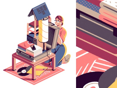Your home in a suitcase concept nomad suitcase editorial illustration editorial illustration
