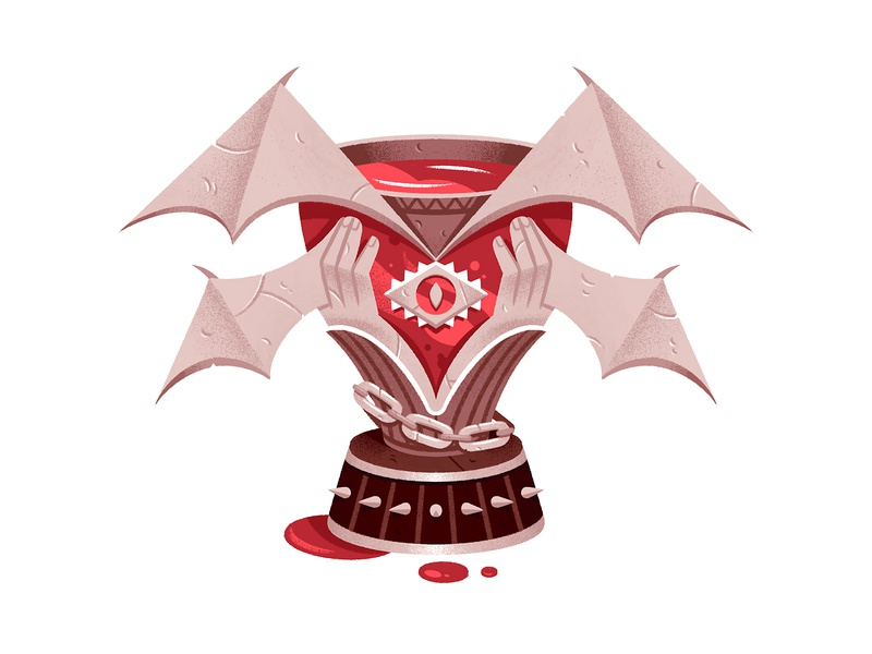 Dark trophy iconography vampire object inventory illustration ui game art trophy