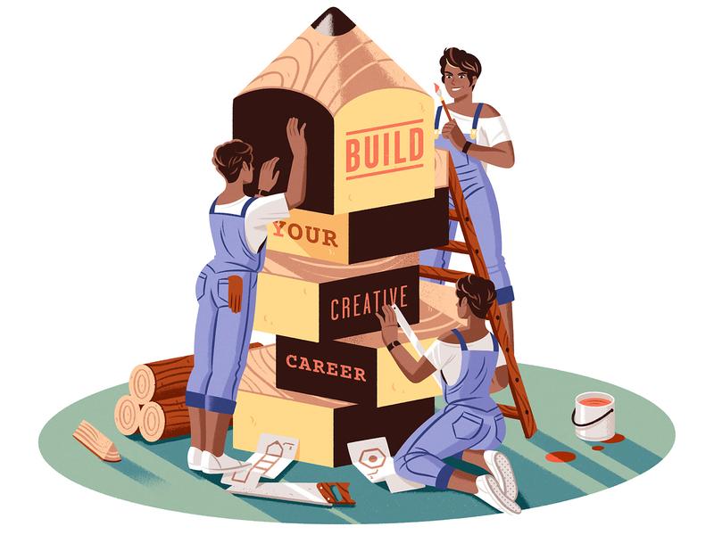 Build your creative career creativity characterdesign character editorial illustration editorial illustration