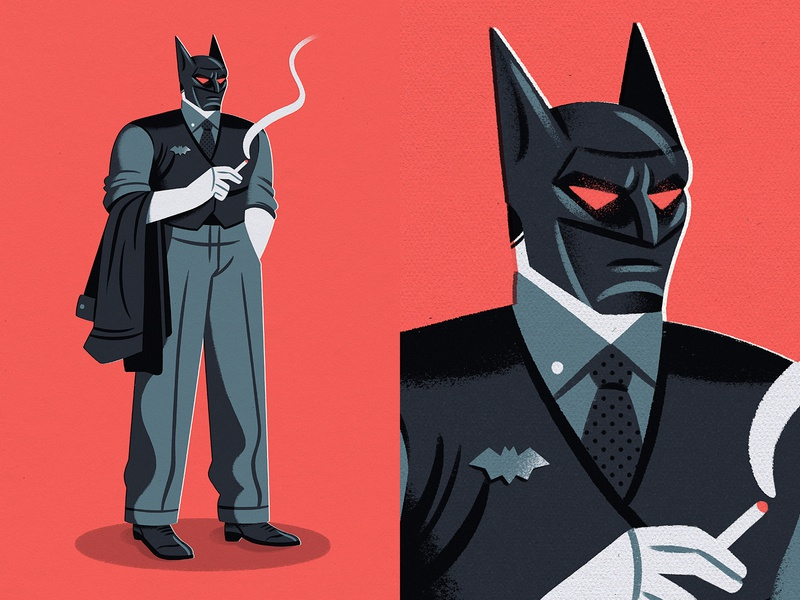 Batman Day 2020 illustration characterdesign design character noir batman