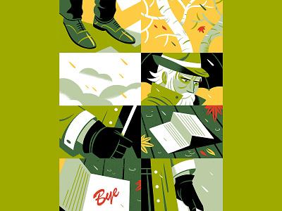 October! fall autumn illustration design storytelling illustration october