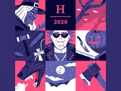 Halloween 2020 characterdesign character color witch vampire halloween illustration