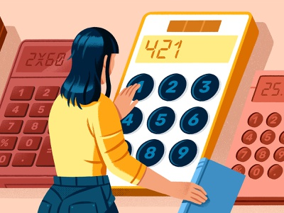 Best Kindle Calculators reedsy publishing kindle calculator character illustration