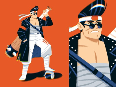 Bosozoku! character design characterdesign punk band bosozoku character illustration