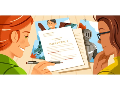 How to Format Your Children's Book Manuscript editorial illustration editorial reedsy writing character illustration