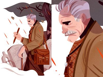 Fremont van Helsing game gameart vampire dracula character illustration