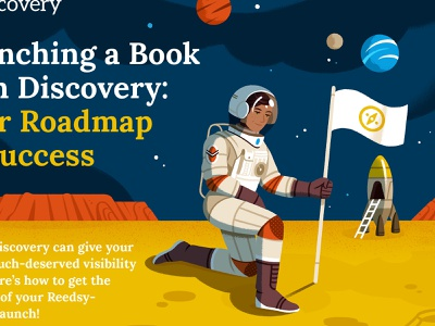 Launching a book with Discovery (free checklist) character design editorial illustration astronaut infographic design journey space character illustration