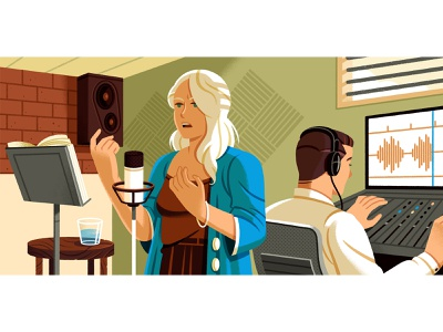 Creating an audiobook editorial writing audiobook reedsy character illustration