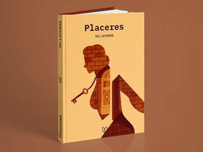 Placeres (book cover) writing self publishing mockup introspection female bookcover book cover design cover editorial character illustration