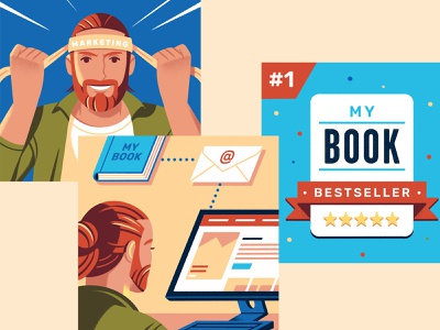 How to Market a Book reedsy design selfpublishing book amazon character illustration