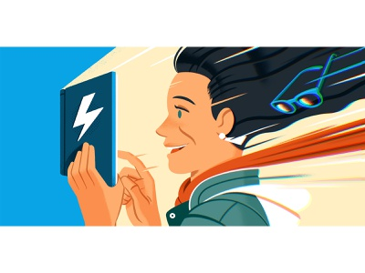 Flash Fiction! editorial illustration editorial design literature reedsy reading writing fiction character illustration