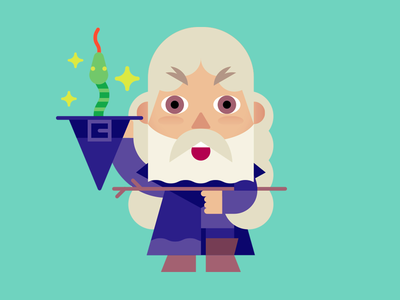 Magic! magic sticker horror mage wizard character vector