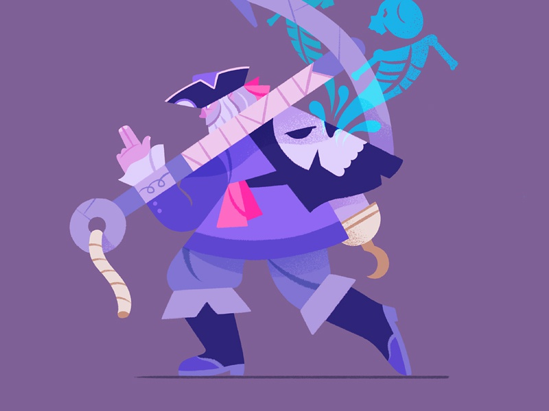 Cursed Pirate anchor cursed ghost pirate design character