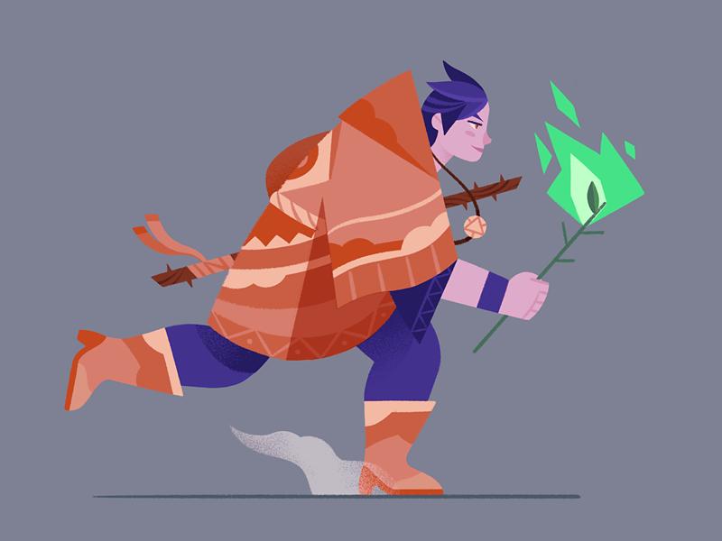 Neo Shamaness procreate witchcraft witch shaman design character