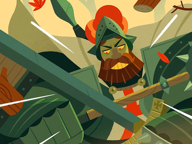 St. Jordi! design ipadpro knight character procreate illustration