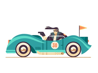 Cars & Drivers (Rockabilly) rockabilly car cartoon design illustration character