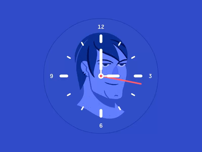 1 Minute Life Cycle ui concept watch motion animation design character smartwatch