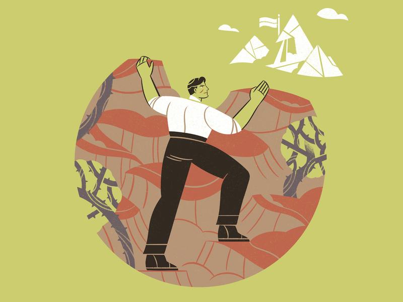 Commitment commitment leadership illustration editorial illustration editorial character