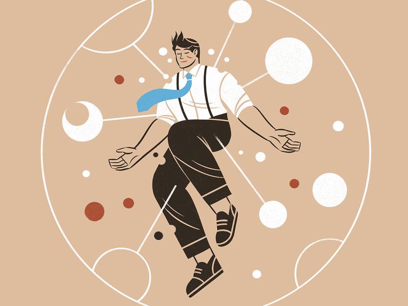 Soul leadership editorial editorial illustration illustration soul character