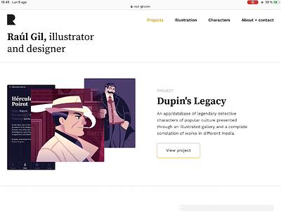 New Portfolio! portfolio semplice design illustration character