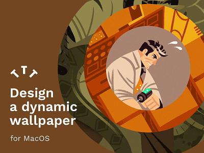 Dynamic Wallpapers procreate skillshare teaching character design illustration